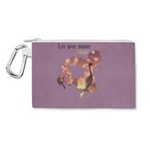 Rapunzel Tangled Disney Let Your Power Shine Quote Canvas Zip Pouch - $15.99+