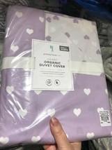 Pottery Barn Kids Heart Duvet Cover Lavender Queen Purple No Shams - $99.00