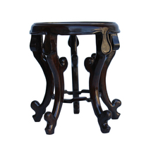"Chinese Brown Wood Round Tall Table Top Stand Display Easel 4.5"" cs5320B - $155.00"