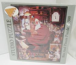 "New 500 Piece ""Just One More Stitch"" Christmas Santa Studio Puzzle 01-4615 -M7 - $12.99"