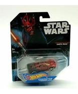 RARE Star Wars Hot Wheels Disney Darth Maul character cars die cast car ... - $17.64