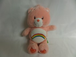 "VINTAGE 2002 CHEER BEAR 13"" PINK RAINBOW CARE BEARS STUFFED PLUSH TOY - $10.40"