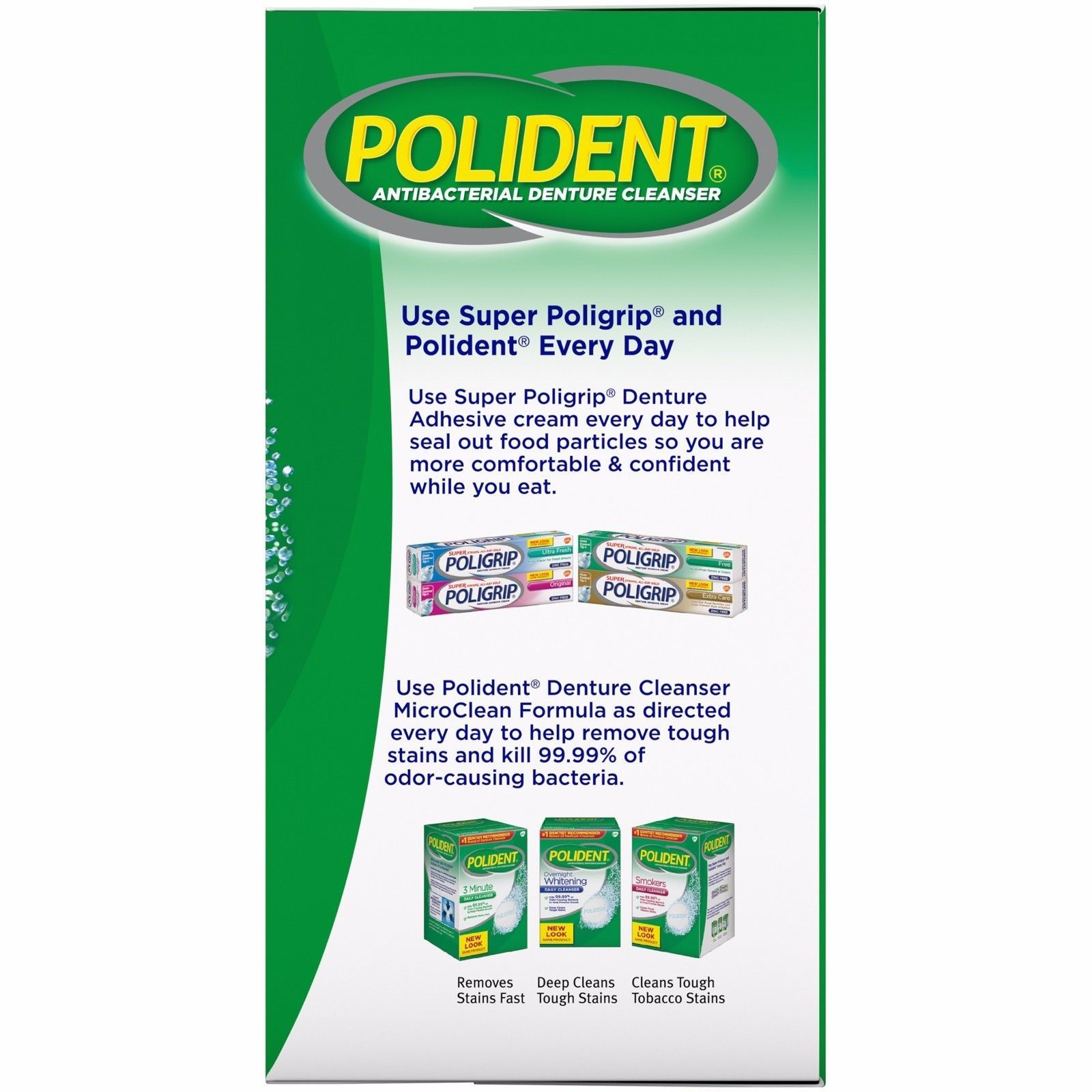 Polident Overnight Whitening Antibacterial And 50 Similar Items Denture Cleanser 84 Count