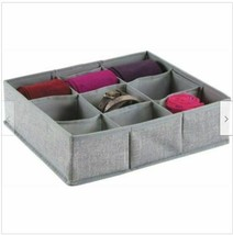 Divided Fabric Accessory Tray Made by Design 13 x 13 inch Gray Storage Organizer image 1