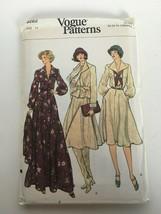 Vogue Sewing Pattern 9262 Size 14 Vintage 1970s Dress and Jacket Pockets Uncut - $16.99