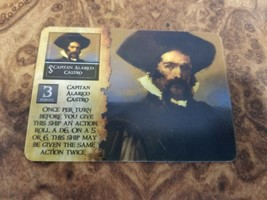 Wizkids Pirates CSG Spanish Main  aptain Alarico Castro SC-001 - $8.90