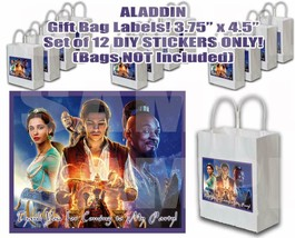 Aladdin Stickers Party Favors Supplies Gift Bag Labels STICKERS ONLY 12 ... - $12.82