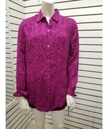 Equipment Femme Women's vivid violet/true black L/S Button Down Top Blou... - $74.25