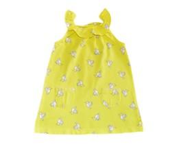 Carter's Baby Girl Yellow Bird Dress 6  - 9 months Sleevees - $4.99