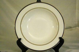 "Lenox 2019 Library Lane Navy Rimmed Soup/Pasta Bowl 9 1/4"" - $34.19"