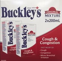 Buckley's Original Mixture Cough & Congestion Syrup -Large Size 2 X 200m... - $32.58