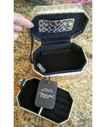 Tuscan Designs Gold Leather BasketWeave Travel/Stationary Jewelry Box - $22.99