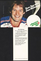 Vintage carton stuffer 7 UP dated 1979 Don Maloney #2 New York Rangers n... - $8.99