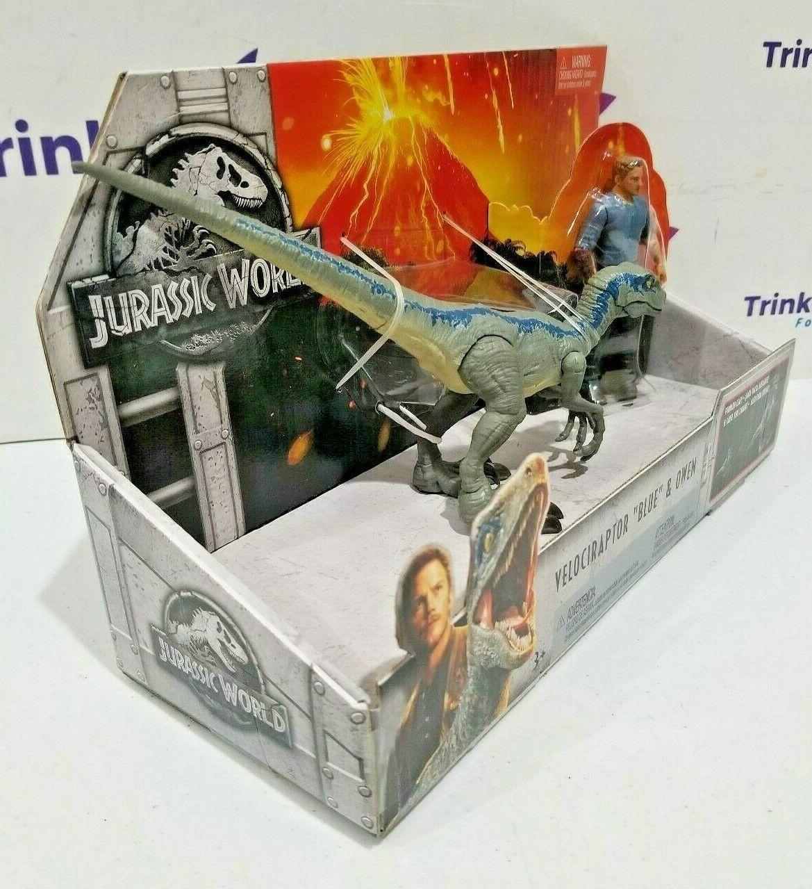 2018 Jurassic World Velociraptor Blue & Owen Figure