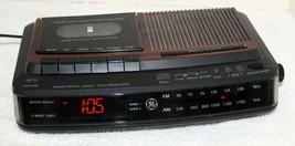 Vintage GE AM FM Clock Radio Alarm Clock 7-4966A Cassette Tape Recorder ... - $34.99