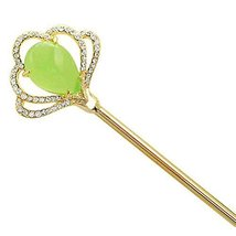 Classical Hair Stick Ginkgo Biloba Girls Hair Stick Dish Hair Headwear(Green)