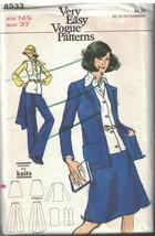 8533 Uncut Vogue Couture Motif Femmes Veste Gilet Jupe Pantalon Demi Tai... - $6.27