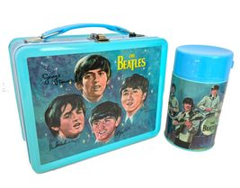 Beatles Metal Lunch Box w/ Thermos New Lunchbox NOS + Stereo & Mono Sets USB image 1
