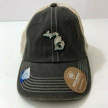 MICHIGAN SPARTANS Top of The World Snap Back Denim Mesh Baseball Cap Hat... - $20.87