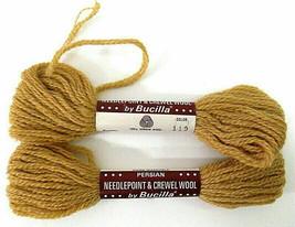 Bucilla Persian 100% Virgin Wool Needlepoint Yarn Lot of 2 Color #119 Golden - $6.00