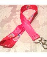 Pretty Disney Pink Cinderella Lanyard Strap One Piece Cell Phone Key Cha... - $6.00