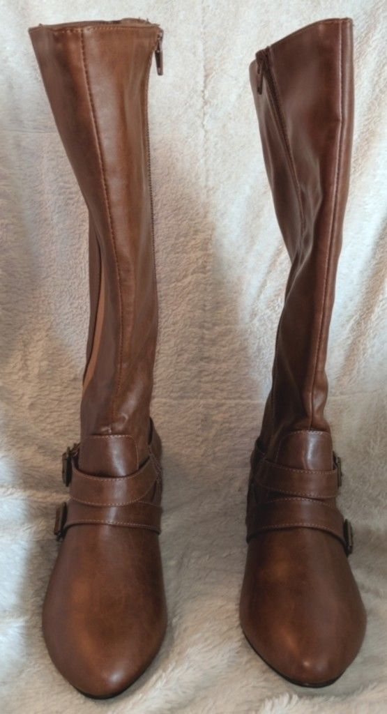 Arizona Jeans Co. Brown Knee High Synthetic  Zipper Boots