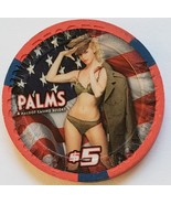 $5 Palms July 4th 2010 Ltd Edition 1000 Vegas Casino Chip vintage - $12.95
