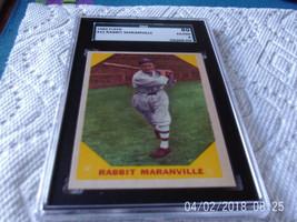 1960   FLEER   #  21    RABBIT  MARANVILLE    SGC  80     BASEBALL  GREA... - $19.99