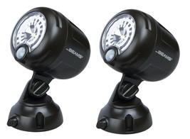 2~NEW!! Mr. Beams Black Plastic Security Spotlight Motion-Sensing LED Ad... - $49.34