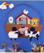 Noah's Ark Plaque Annie's Attic Plastic Canvas Pattern Leaflet - $1.77