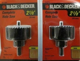 "Black & Decker 79-374 2-1/8"" Complete Hole Saw 2 Packs - $3.96"