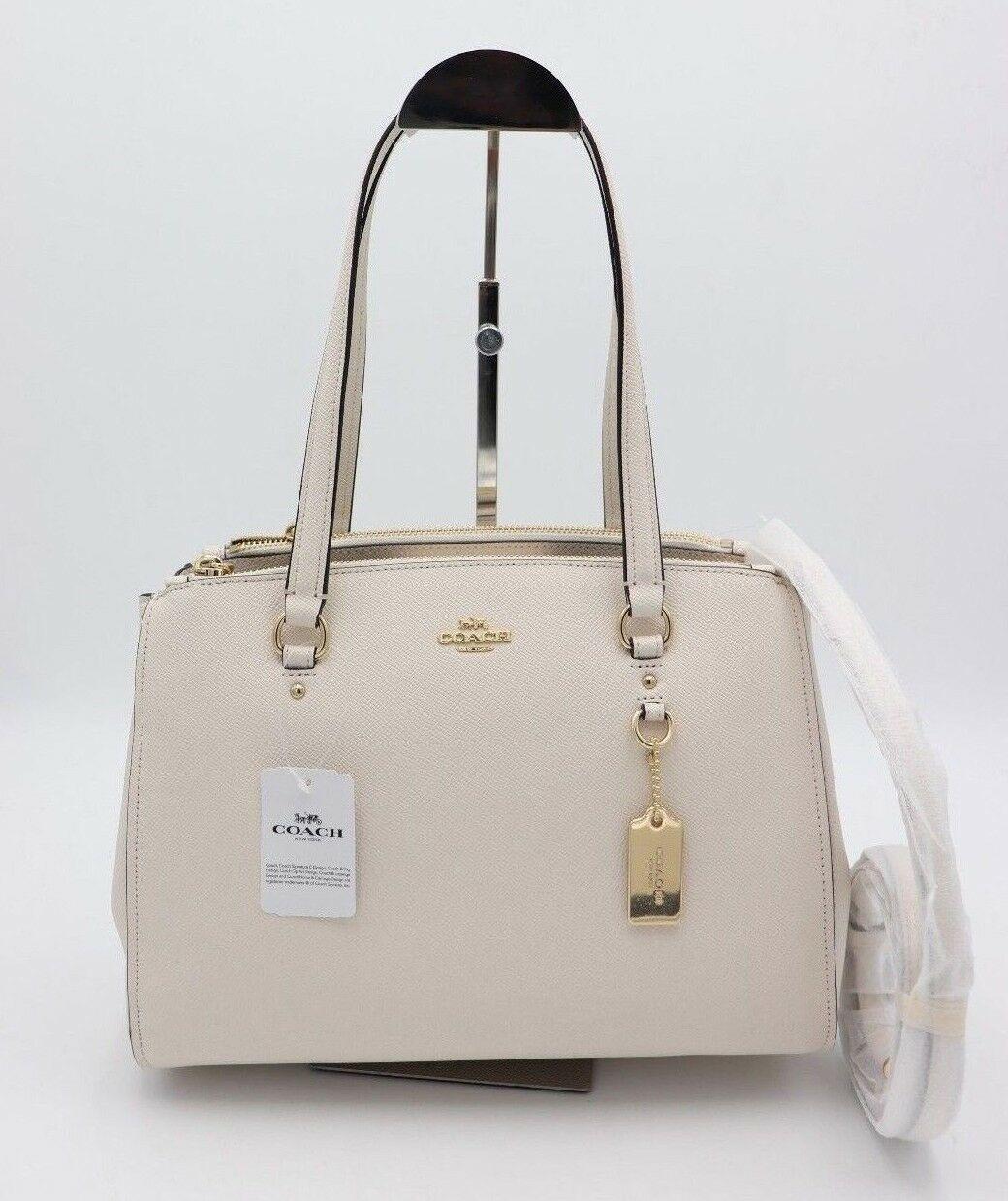 NWT Coach Stanton 29 White Chalk Carryall Satchel Shoulder Bag Purse 37147 New