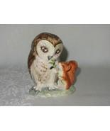 Beatrix Potter Old Mr Brown Owl & Squirrel Figurine Vtg 1963 F Warne Eng... - $118.79