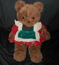 """18 """" Vintage 1991 Gemeinwesen Weihnachten Mama Teddybär Plüschtier Spielzeug - $34.30"""