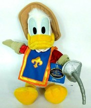 "NWT Rare Disney Store Donald Duck Three Musketeers Plush Stuffed Animal 11"" - $59.40"