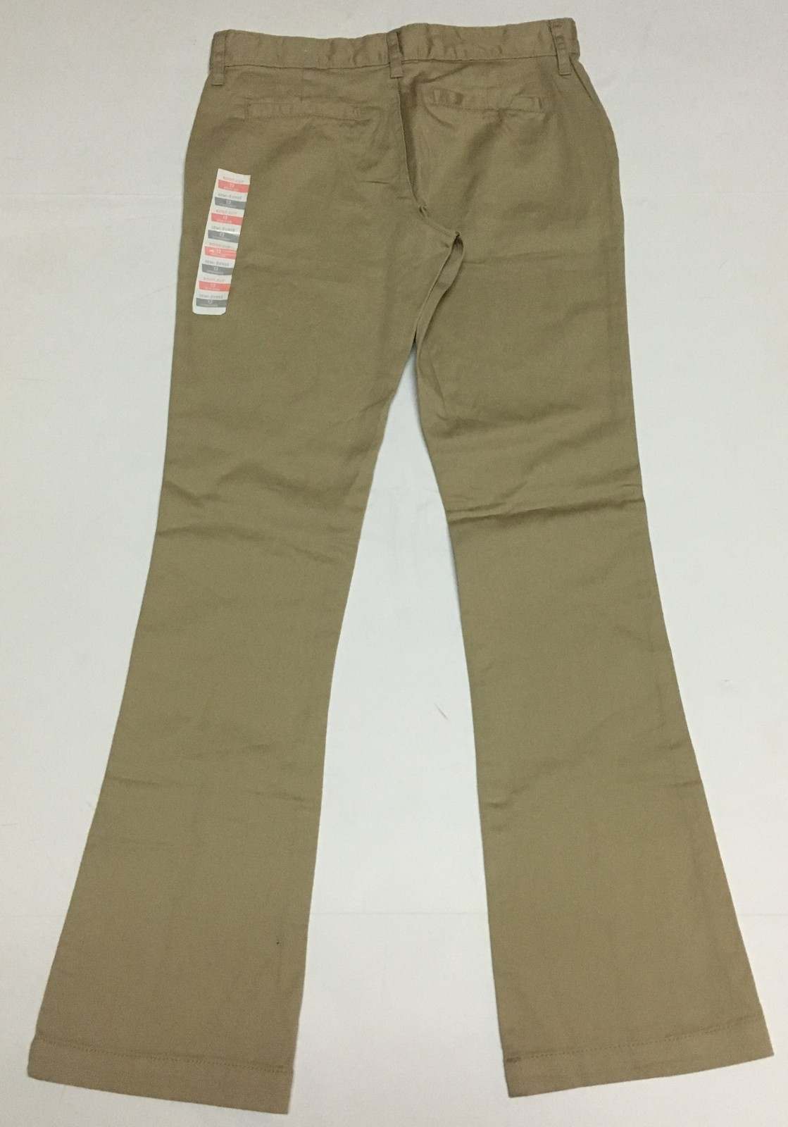 Girl's Old Navy Beige Khaki Pants Sz 12 Boot Cut Youth