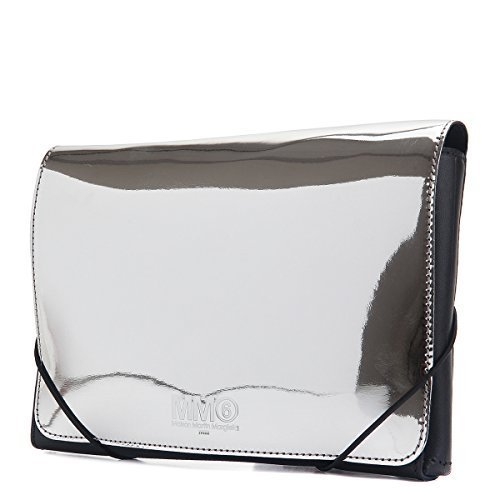 MM6 Maison Margiela Small Metallic Clutch S41WF0013-963 Silver/Natural
