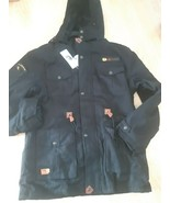 David Outwear Jacket Coat Solid Black Lined 100% Cotton Mens Size XL Zip... - $69.25