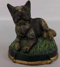 Cast Iron Door Stop Dog Puppy Animal Painted 19... - $58.79
