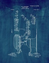 Dental Chair Patent Print - Midnight Blue - $7.95+