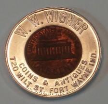 W. W. Wigner Coins & Antiques 720 Wilt St. Fort Wayne, Ind. 1961-D Encas... - $8.96