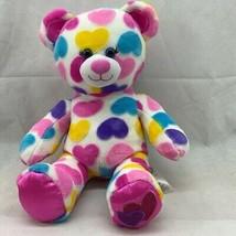 Build-A-Bear Workshop Plush Toy Stuffed Animal White Pink Blue Purple He... - $13.85