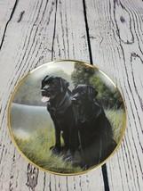 Black Lab Dogs Franklin Mint Porcelain Plate Sporting Companions, NIGEL ... - $14.73