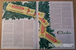 Clark's Tendermint chewing gum '40s PRINT AD two-page vintage advertisem... - $12.59