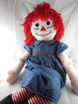 "RAGGEDY ANN RAG DOLL 35"" by Applause 2004 Hasbro Button Eyes Embroidered... - $29.69"