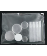 Makeup Bag Plastic Cosmetic Pouch Clear View Beauty Tote Slider Closure ... - $7.95