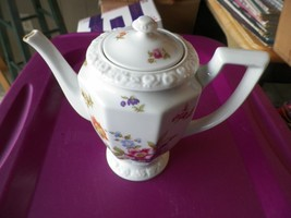 Rosenthal Flowers coffee pot (chip on end of spout) 1 available - $16.78