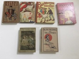 Antique Vintage Books Set of 6  Bobbsey Twins,Ruth Fielding,Helens Babies  - $65.00