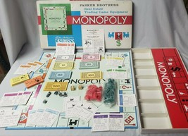Vintage 1961 Parker Brothers  Monopoly Board Game Complete - $18.99