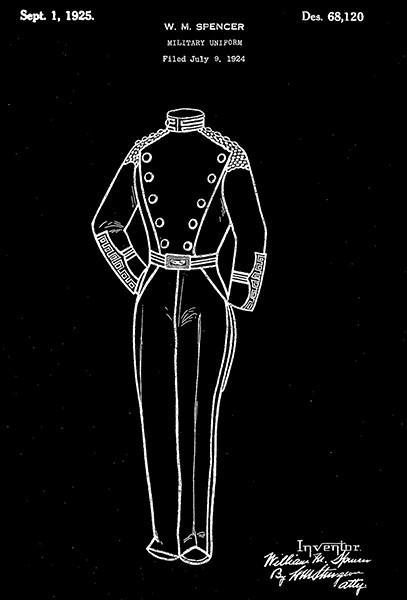 Primary image for 1925 - Military Uniform - W. M. Spencer - Patent Art Poster
